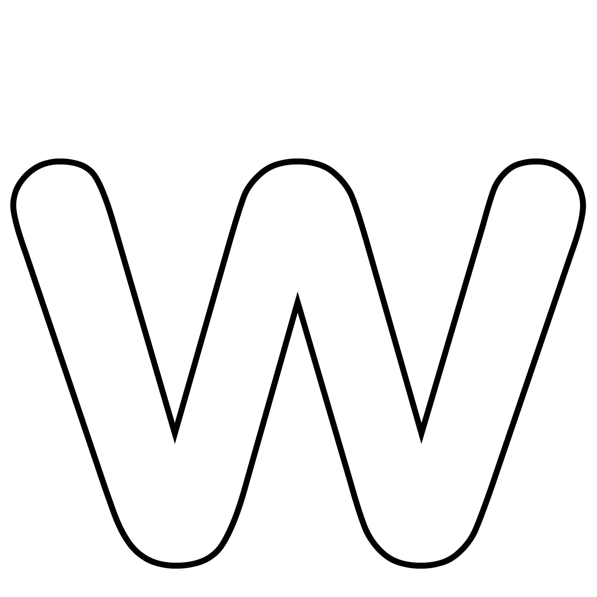 Free coloring pages of letter w bubble letters